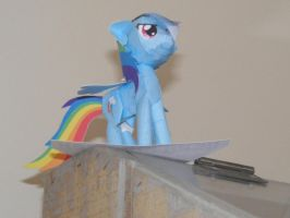 This Will Be SO Awesome - Papercraft Rainbow Dash by Invidlord