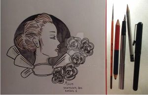 Inktober 2015 -day 1 by atsumimag