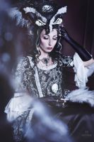 Skulls Rococo Jacket Dress by Alice-Corsets