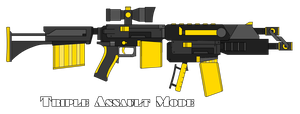 Gun-Gun Triple Assault Mode by Blaze-Drag