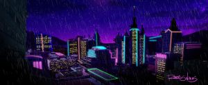 The Neon Buildings by ShadowGear65
