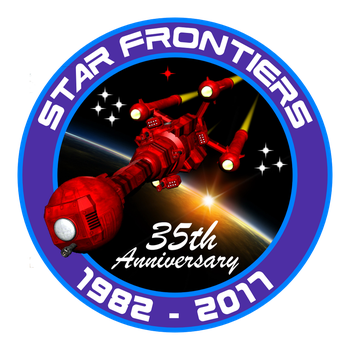 Star Frontiers 35th Anniversary Logo by dagorym