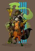sprocket raccoon by BrianKesinger