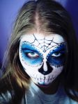 Sugar Skull Blue by TheSterlingDragon