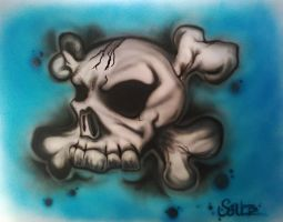Airbrush Skull by dx