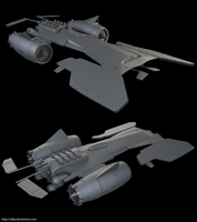 High-Poly Space Racer by adijs