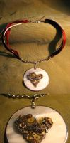 Clockwork Heart Necklace by Muffinettes-crafts