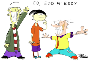Ed, Edd and the other one by BunjiStudios