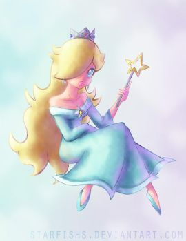Lovely Rosalina Colored by StarFishs