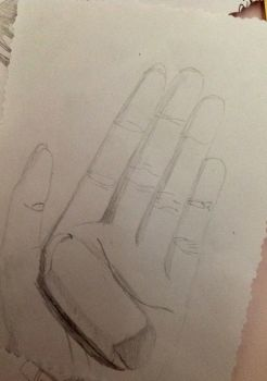 Hand Drawing with an Eraser by EponineRose1232