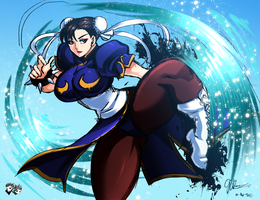 ARTWORK : Chun-Li Sketch by jadenkaiba