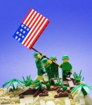 Raising the Flag on Iwo Jima by VonBrunk