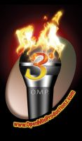 Open Mic Productionz Logo by escar4