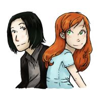 Severus and Lily by Hopiamanipopcorn