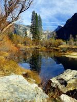 Yosemite Valley in the Fall by DaisyDinkle