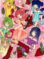 Tokyo Mew Mew Full Group by Queen-Caffeine