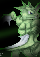 Scyther used cut! by firenight617