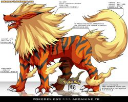 Pokedex 059 - Arcanine FR by Pokemon-FR