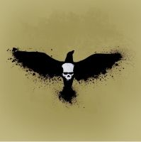 skull crow by worlithe