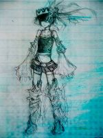 Black Rock Shooter Beast Traditional Sketch (2) by xPsyren