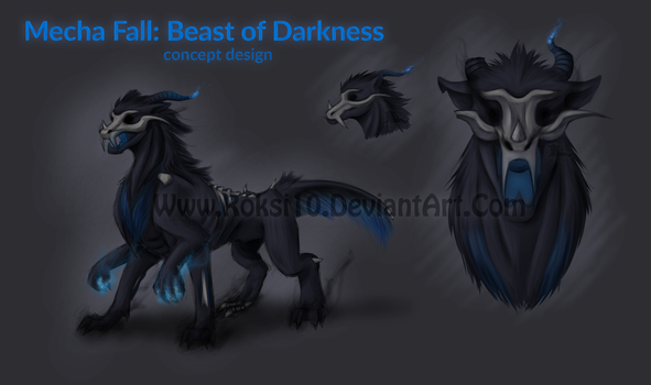 Mecha Fall: Beast Of Darkness concept design by Roksi10