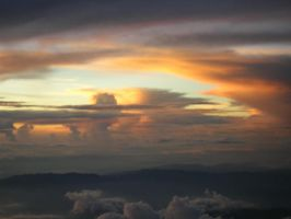 sky with clouds by charlieest