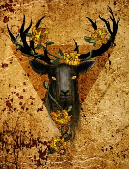 The Stag And The Rose by Holmes-JA
