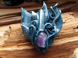 Priestess of Avalon brooch by SuvetarsWell