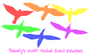 GIMP Vector Bird Brushes by MsPastel
