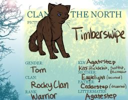 Timberswipe Official CotN Sheet by Warriors-horse