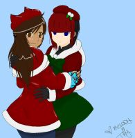 Tay and Melody Late X-Mas Collab by SolbiiMelody