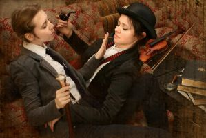 Holmes and Watson cosplay VIII by MigraineSky