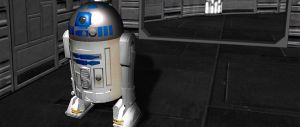 R2-D2 in the death star (still not finished) by jeffwildstar