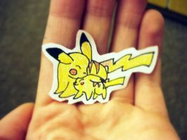 Pikachu Love Cutout by OneLifeRemaining