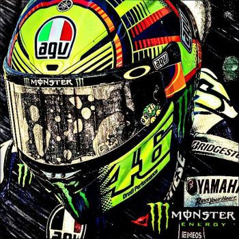 VR 46 ROSSI . by MIGUELF22
