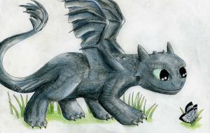 Baby Toothless by Celestialtien