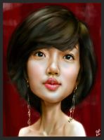 Im Su Jung caricature by ByunCaricature