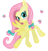 Fluttershy fly by moekonya