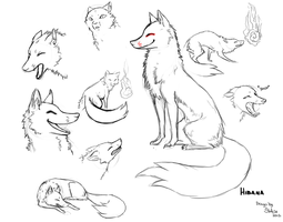 Hibana the Kitsune Sketches by Stalcry