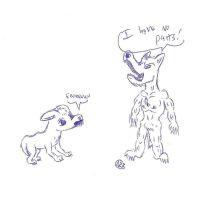 Dog and Werewolf by uhnevermind