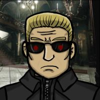 head shot Wesker by ResidentEvilFourm
