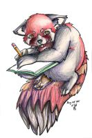 Id in Sketching Journal by MortaleRedWolf