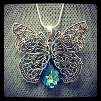 Majestic Butterfly Necklace by AngelElementsEtsy