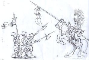 Hussar and pikes by DiegoSilvaPires