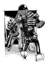 Judge Death Inked by FortriuPict