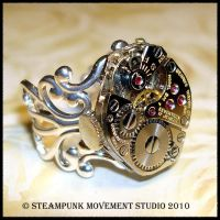 Steampunk Mechanical Ring by SoulCatcher06