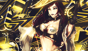 Golden lady by CheckeredStuffGFX