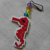 Pink Seahorse Key Chain/Zipper Pull by agorby00