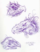 .:Dark Crystal Skeksis:. by JessFox