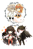 Chibi Set 2 .:Commission:. by GYRHS